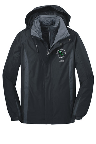 Port Authority® Colorblock 3-in-1 Jacket with embroidered logo and optional name