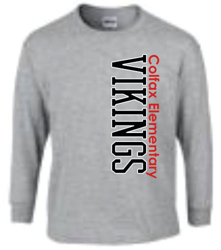 Long Sleeve Viking Style 1 - Gray