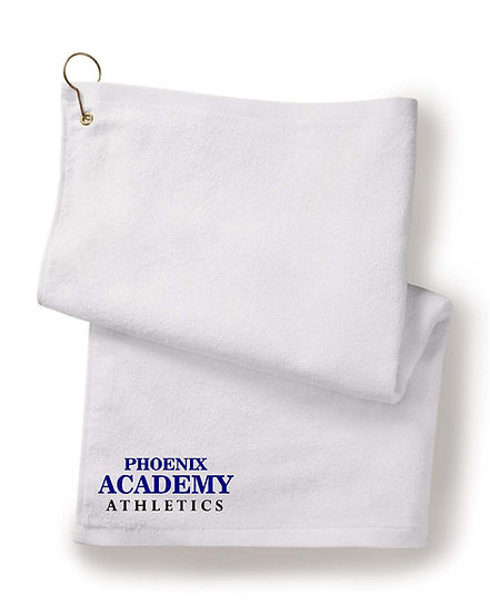 Embroidered Golf / Rally Towel -White