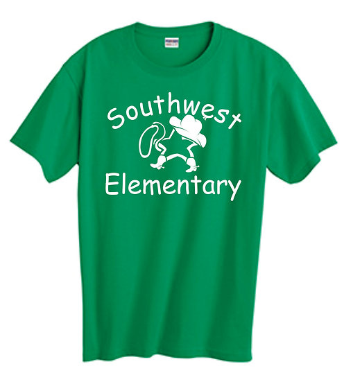 Green T-Shirt with Star Cowboy Logo