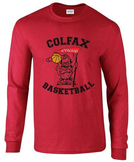 Basketball T-shirt Red Long Sleeve