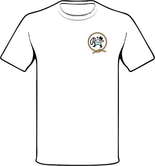 Lasso Back white t-shirt