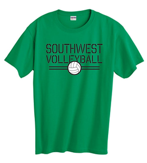 Green Volleyball T-Shirt