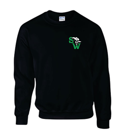 Sweatshirt with Embroidered SW Logo