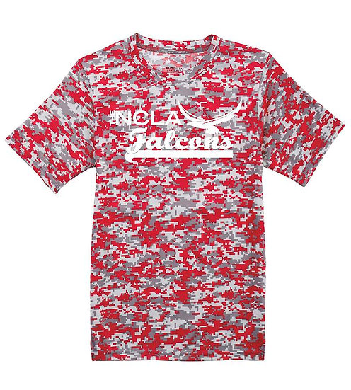 Camo Dry-fit T-shirt with white logo