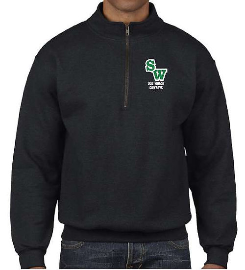 Embroidered quarter zip