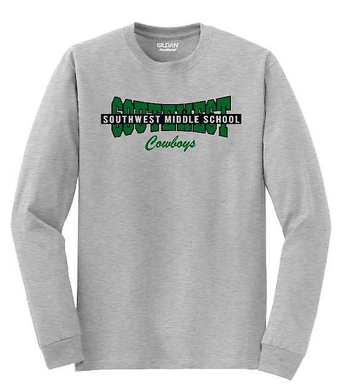 Long sleeve banner shirt - sport gray