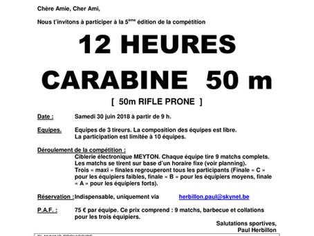 12 HEURES CARABINE 50 m