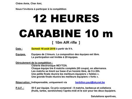 12 HEURES CARABINE 10 M 2018