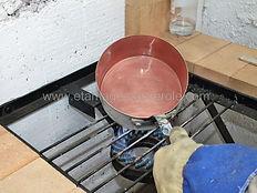 étamage casserole cuive