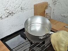étamage de la casserole terminée