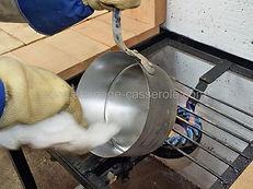 lissage au coton de l etain