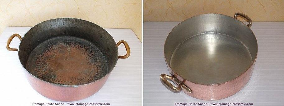 étamage rondeau en cuivre