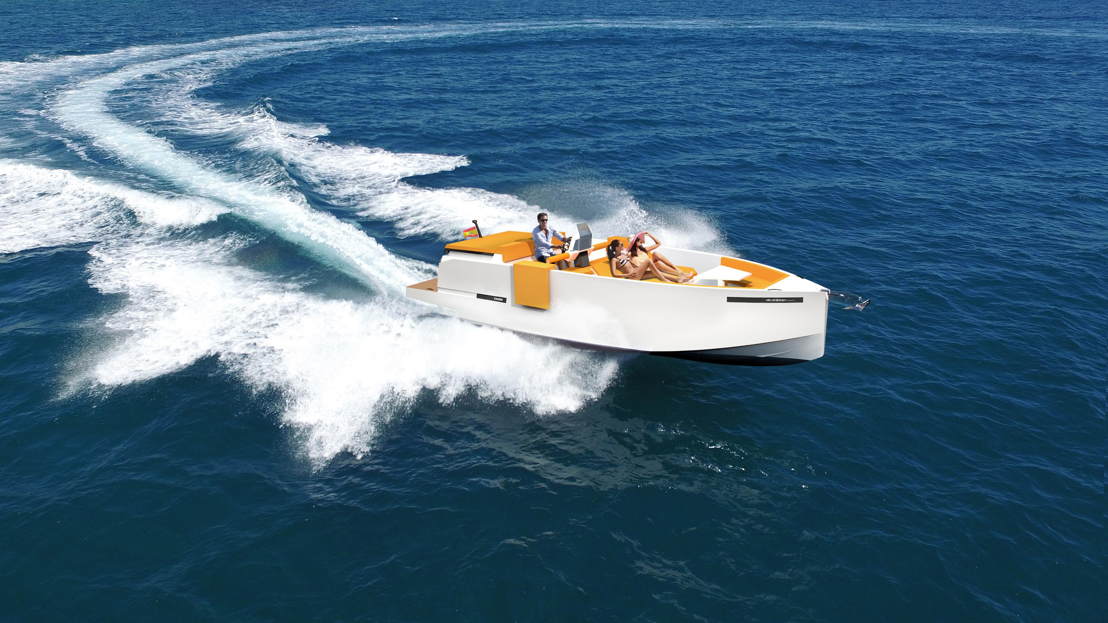 De Antonio Yachts_D28 Deck_Render_01