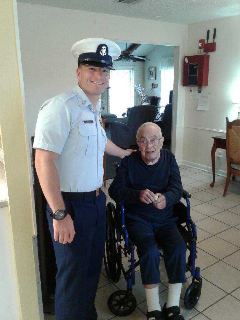 A visit from a serviceman to a serviceman.