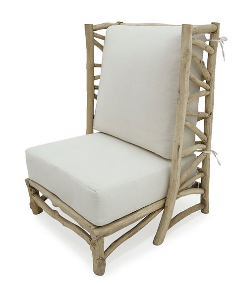 Swell Sharan Sigra Teak Wood Wingback Accent Chair Bralicious Painted Fabric Chair Ideas Braliciousco