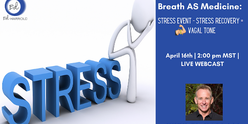 Breath AS Medicine:  Stress Event - Stress Recovery = STRONG VAGAL TONE