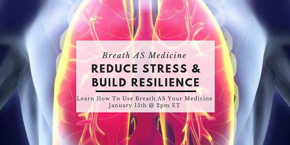 Breath AS Medicine For Reducing Stress And Building Resilience @ Wellcoaches School of Coaching