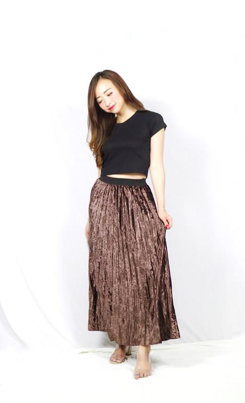 783b7de467 Long Skirt Velvet Plisket. Rp 220,000.00. New Arrival.