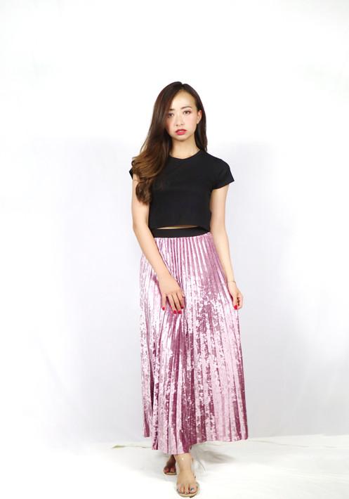 4f8d739002 Long Skirt Velvet Plisket