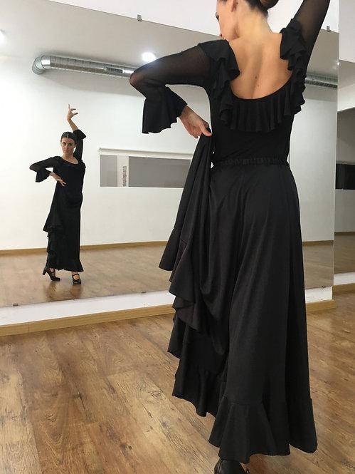 Falda de ensayo
