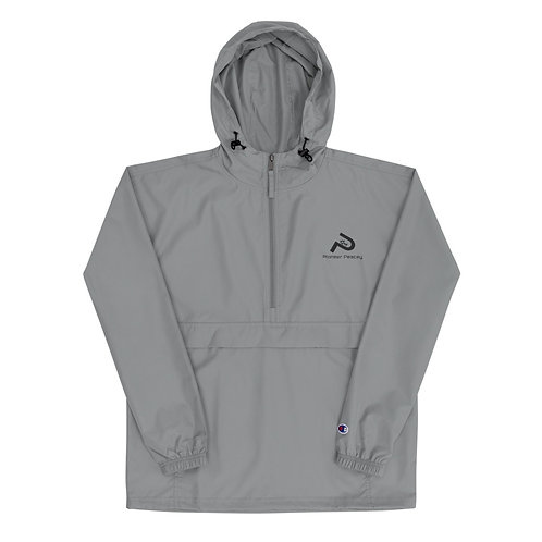 Embroidered Champion Packable Jacket - Pioneer Peacey