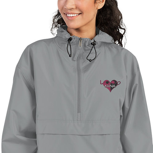 Embroidered Champion Packable Jacket - Nina LoVe