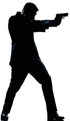 picture of assassin in a dark suit