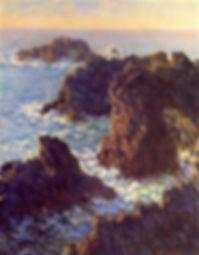 Monet painting. Location: Belle-île-en-Mer, France