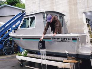 Custom aluminum boat