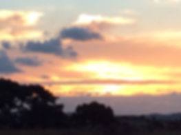 sunset over Auckland, New zeland