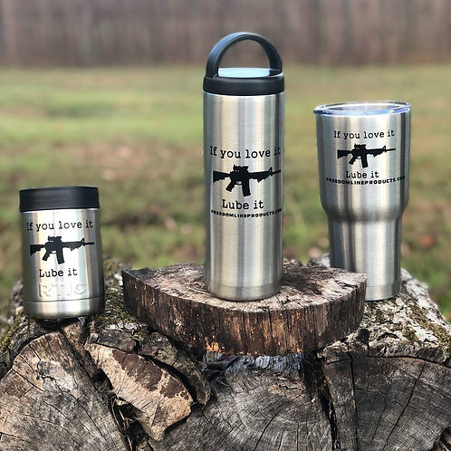 "RTIC Tumblers, Bottles & Koozies ""If you Love it Lube it"""