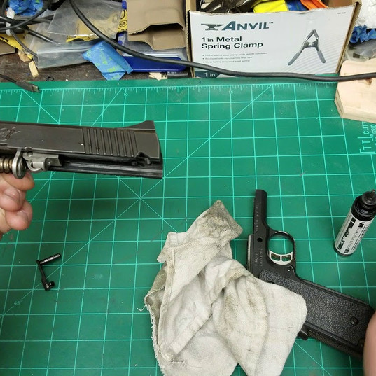 Arcem Gear LLC cleans a Kimber with Freedom Lube