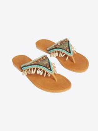 Woodlands Flat Sandals