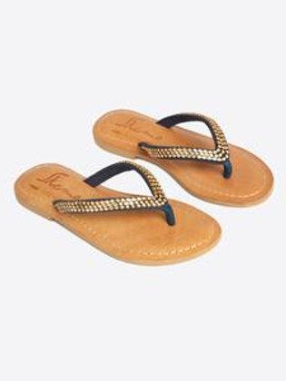 Princess Navy Sparkly Sandals