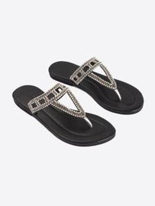 Rhinestones Flat Sandals