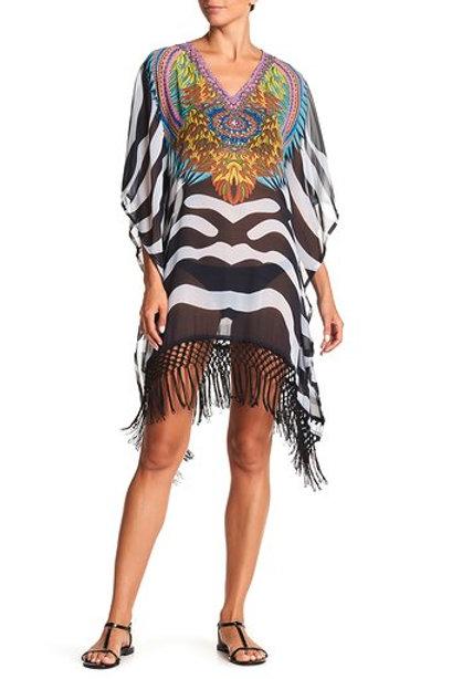 Zebra Fringe Tunic