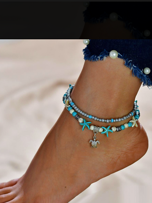 Anklet With Turtle Charm