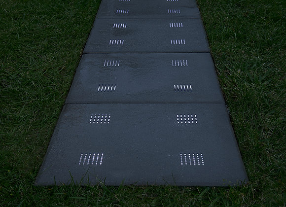 LED concrete panel 40x40x4 cm, LED lights include, 4x2 W installed
