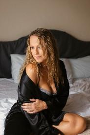Sensual boudoir photo blond mum Cairns