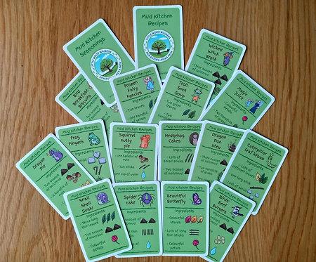 10 Sets - Mud Kitchen Recipes - 15 Card Set