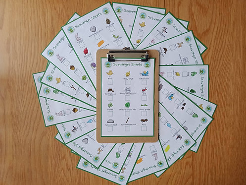 20 Pack - Scavenger Sheets