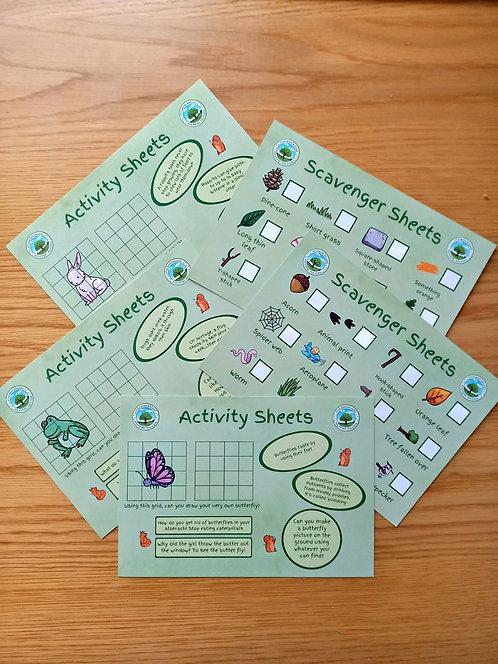5 Pack - Scavenger/Activity Sheets