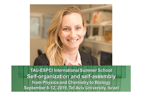 """Lihi is co-organizing the TAU-ESPCI International Summer School on """"Self-organization and self-assembly: from Physics and Chemistry to Biology"""""""
