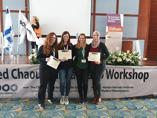 Congratulations to Dr. Michal Halperin-Sternfeld for winning the Excellence Award, and to Dr. Lialy Khadeja and Sarah Ya'ari for winning Best Poster Award in the Fred Chaoul 12th Nano Workshop.