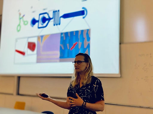 """Lihi just gave a brilliant lecture on """"Application of Self-Assembled Structures"""" at the TAU-ESPCI Summer School, 2019 Israel."""