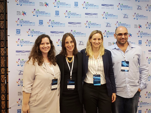 Lihi and Tzakhi participated in the Prime Minister Innovation Summit Working Groups which were presented in the summit by Shira Shaham-Niv.
