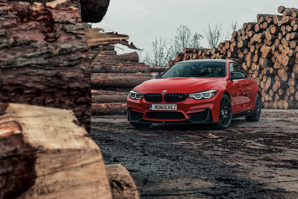 BMW M4 Ferrari red Indiv