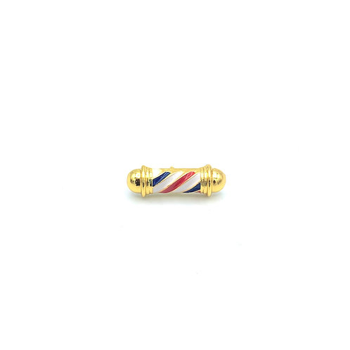 BARBER POLE LAPEL PIN