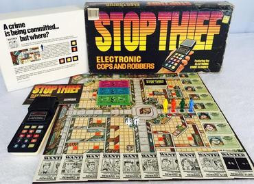 A picture of the Stop Thief board game from 1979